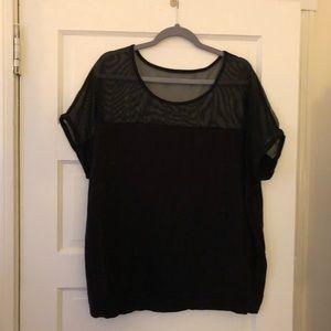 Torrid mesh top short sleeve t